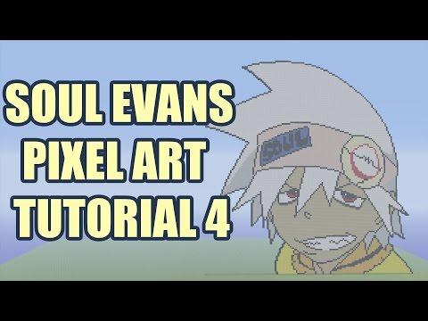 Minecraft Soul Evans Pixel Art Tutorial Part 4 (Soul Eater)