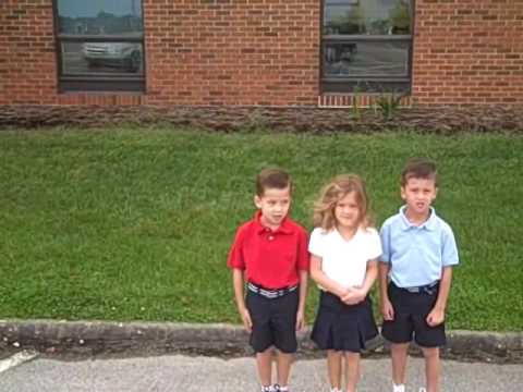Triplets First Day @ Christian Chapel Academy August 19, 200