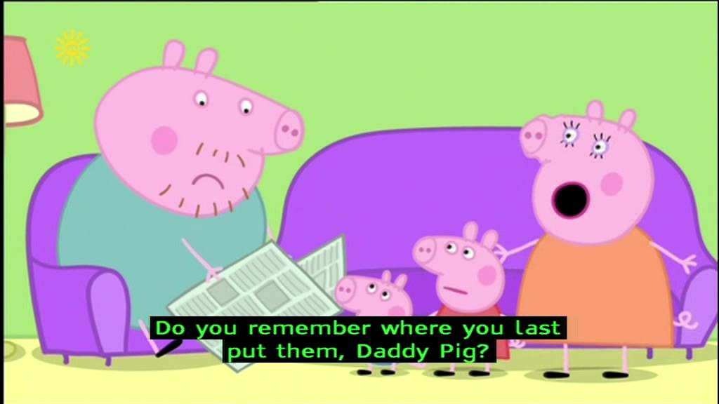 Peppa Pig Series 1 Daddy Loses His Glasses With Subtitles