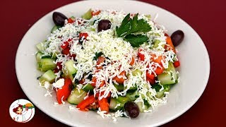 Шопский салат – визитная карточка Болгарии. Классический рецепт приготовления.