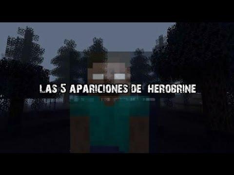 las 5 apariciones de herobrine