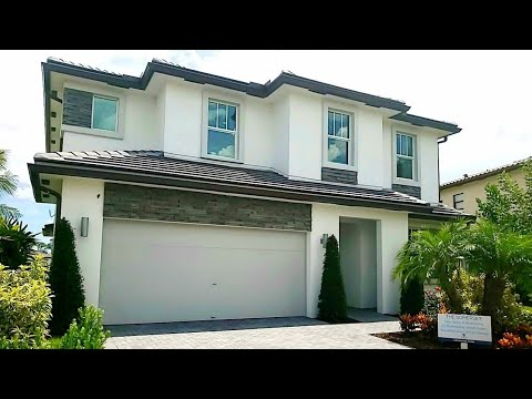 N Of West Palm Beach New Construction Model Home Tour  Royal Palm Beach  South Florida Home For Sale