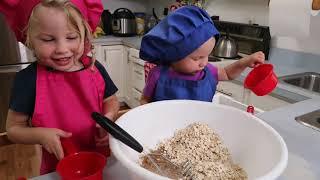 Little sisters make energy bars