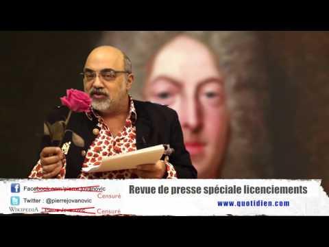 P. Jovanovic - Revue de presse spéciale licenciements (avril 2017)
