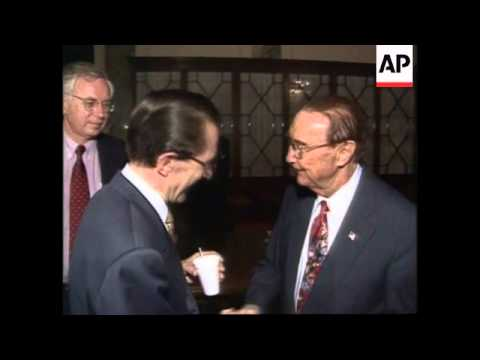 USA - Claes Visits Senate In Washington