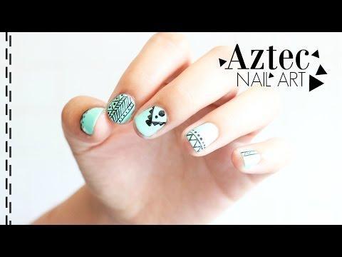 REVIEW : Qttie GEL POLISH - AZTEC NAIL ART * LISA BLABLA