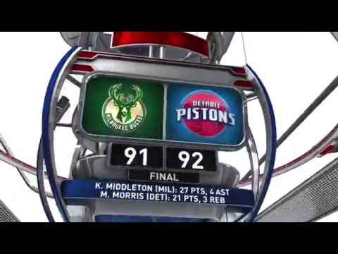 Milwaukee Bucks vs Detroit Pistons - March 21, 2016