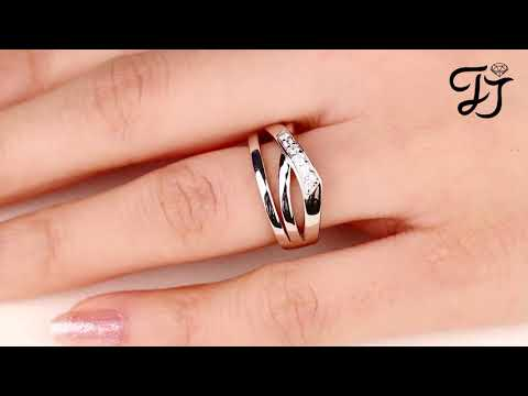 925 Sterling Silver Crisscross Men's Promise Ring