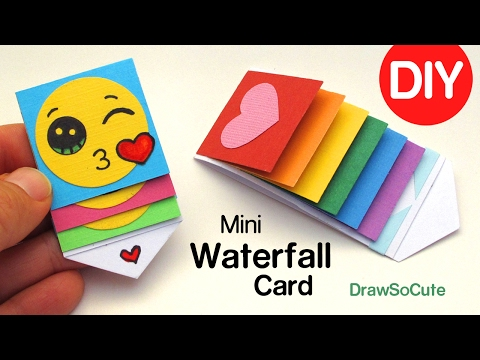 How to Make a mini WATERFALL CARD - DIY Fun Easy Craft