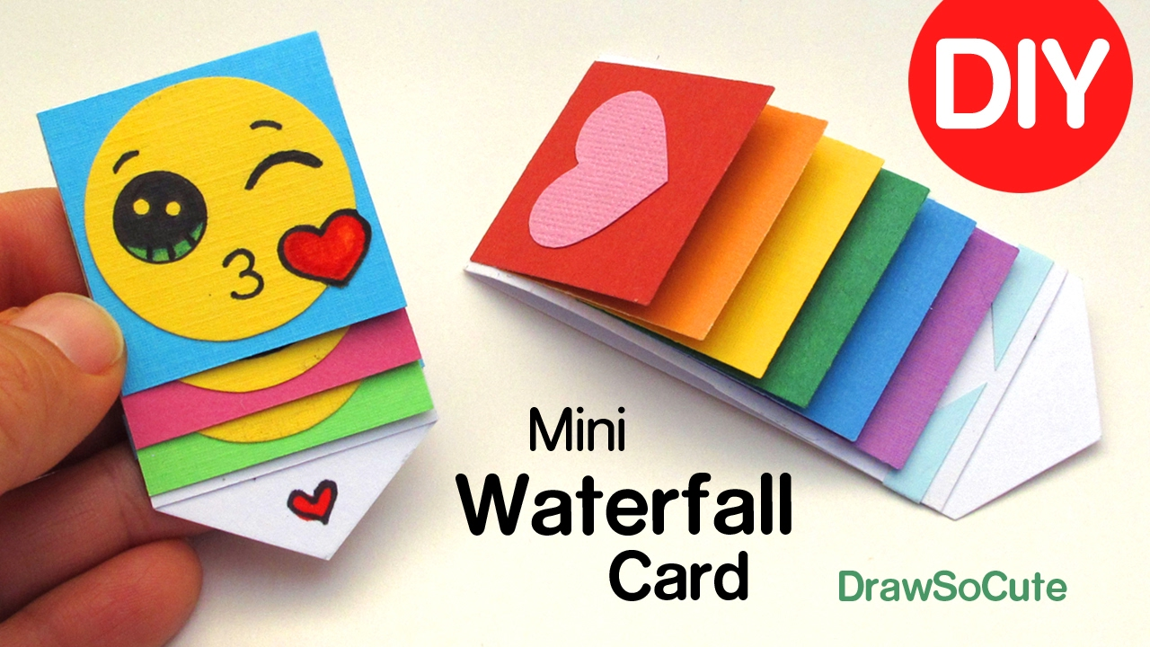 How To Make A Mini Waterfall Card Diy Fun Easy Craft Youtube