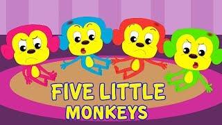 пять маленьких обезьян | 5 Little Monkeys | Kids Rhymes Russia | русский мультфильмы для детей