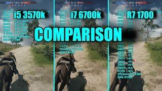 Video Battlefield 1 Ryzen 7 1700 - i7 6700k - i5 3570k & GTX 1070 OC | 1080p | FRAME-RATE TEST COMPARISON download MP3, 3GP, MP4, WEBM, AVI, FLV Oktober 2018