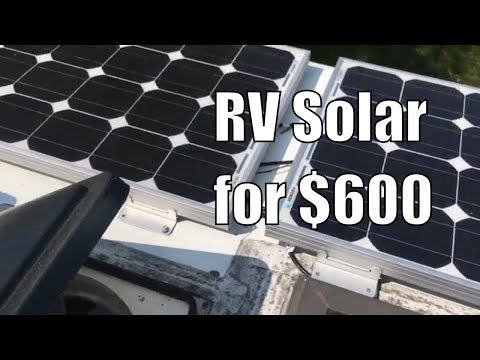 Simple RV Solar Charging Setup for $600