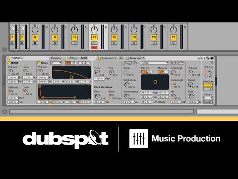 Ableton Live Video Tutorial: Minimal Techno Percussion W/ Collision