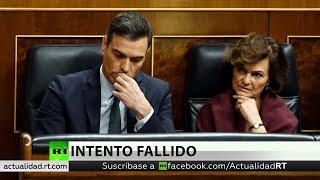 Pedro Sánchez no logra la mayoría absoluta necesaria en la primera votación de su investidura