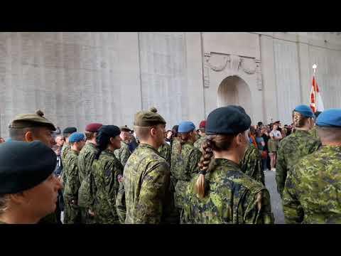 2017 07 14 Last Post Ieper Belgium - Armed Forces Canada