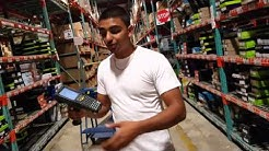 How to use an RF Gun or Scanner - PICKING orders in a warehouse