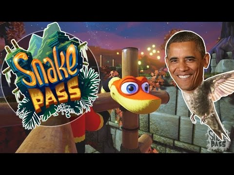 Snake Pass - Snekkin /w Obama - Let's Play Snake Pass Gameplay