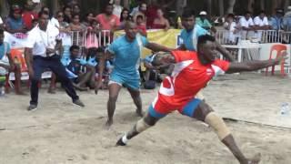Match between Mauritius Vs Kenya (men) part 1 in International Beach Kabaddi Meet, Mauritius