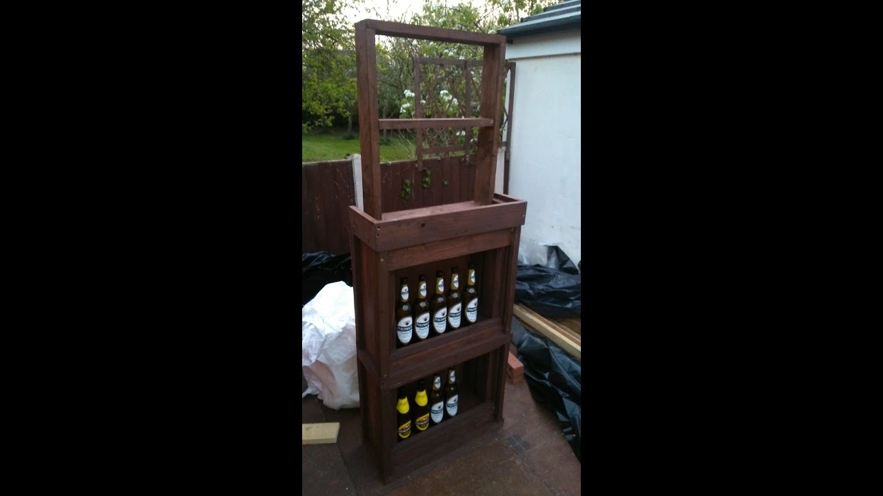 How To Build Your Own Bar Out Of Pallet Wood Step By