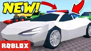 New police cars!!!!!! on Roblox (amazing)
