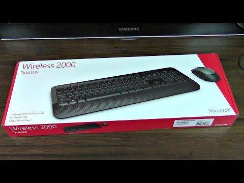 Microsoft Wireless 2000 Desktop Keyboard & Mouse Unboxing