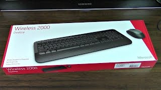 unboxing Microsoft Wireless Desktop 2000