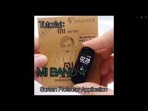 [TUTORIAL] Xiaomi Mi Band 4 - Screen Protector Application