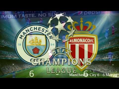 AS Monaco vs Manchester City 6-6 All Goals...
