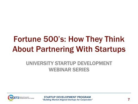 Fortune 500's: How They Think About Partnering With Startups