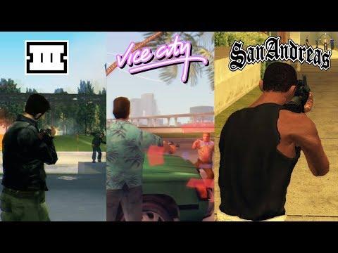 SBS Comparison Of GTA Games (GTA 3 Vs VC Vs SA)