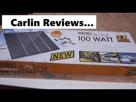Carlin Reviews Harbor Freight 100 Watt Solar Kit