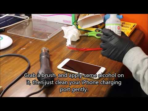 iPhone 6s Plus charging port cleaning   Fix iPhone 6s Plus not charging