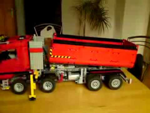 lego technic 8258 kipper motorisiert mp4 youtube. Black Bedroom Furniture Sets. Home Design Ideas