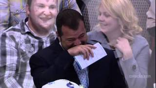 Alain Vigneault Can't Stop Laughing At Fiddler's 'Angry Bieska' Impression