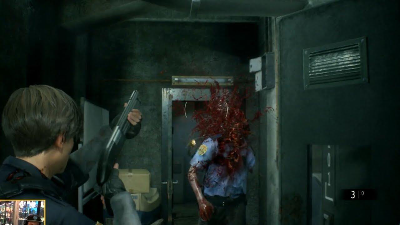 Resident Evil 2 Remake Shotgun Impacts In E3 Demo Youtube