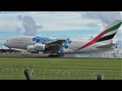 Mauritius MRU Plane Spotting 🇲🇺 Very close up Heavy take-off/Landing international traffic (2020)