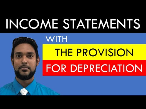Income statements with adjustments | The Provision for Depreciation | CSEC PoA