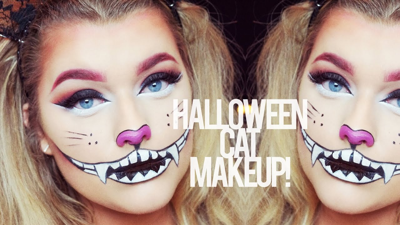 Halloween Cat Make up Tutorial! | Rachel Leary - YouTube