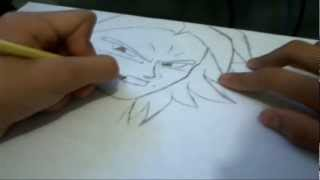 How to Draw Broly SSJ from Dragonball Z: Broly the Second Coming Requested by TheManga444