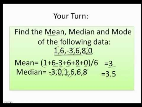 How to find the mean median and the mode fast and easy youtube ccuart Gallery