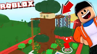 I Built The Worlds BIGGEST Tree House in Roblox... (It seriously has an underground lair...)