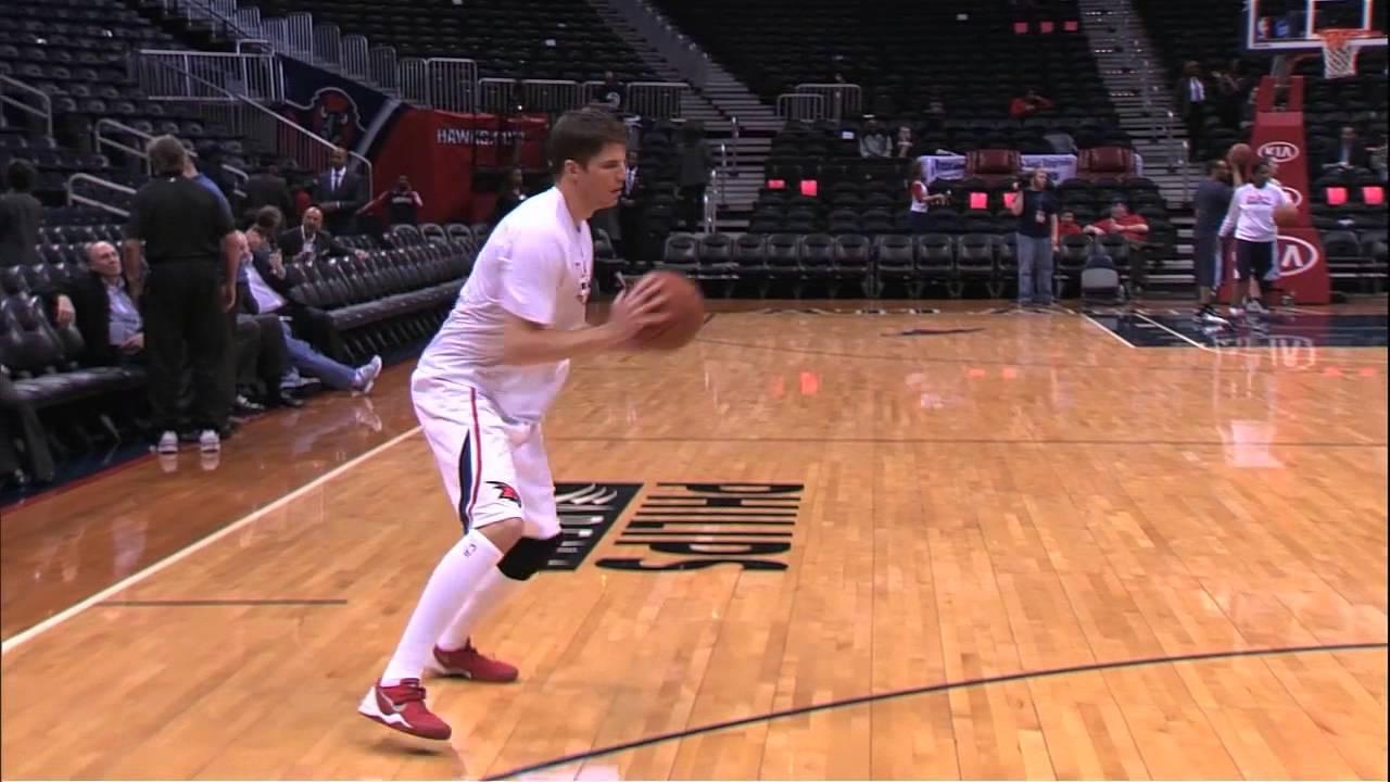 Kyle Korver Shooting for NBA 3-Point Record - YouTube