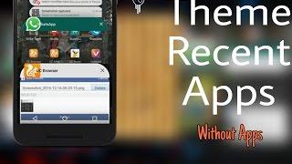 1 Tema nasıl Son Uygulamalar  Android [KK,LP,MM,Android N ] Bölümü