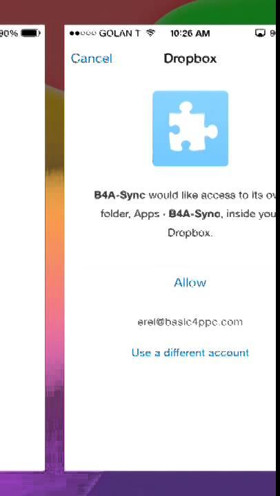 iOS Tutorial - DropboxSync Tutorial | B4X Community