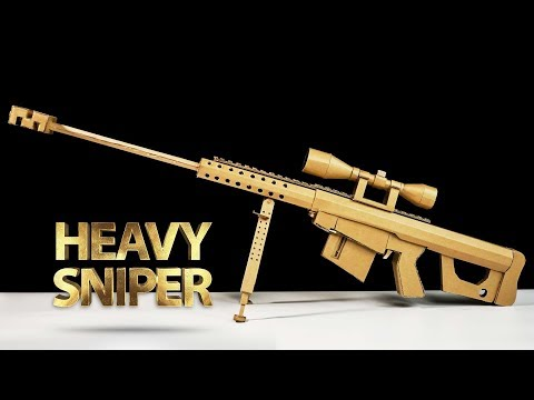 How To Make Fortnite Heavy Sniper Rifle   Amazing DIY Cardboard Toy