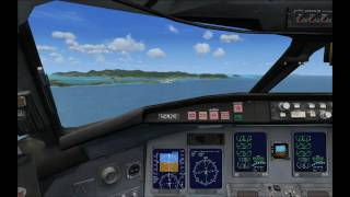 Flight Simulator X - Caribbean Landing - HD 720p
