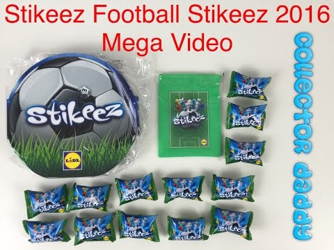 Stikeez football Stikeez 2016 mega video with collectors album, bag and Stikeez Lidl