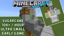 Sugarcane Microfarm for Minecraft Bedrock. Easy to build early game.