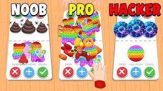 NOOB vs PRO vs HACKER in Fidget Toys Trading 3D screenshot 1